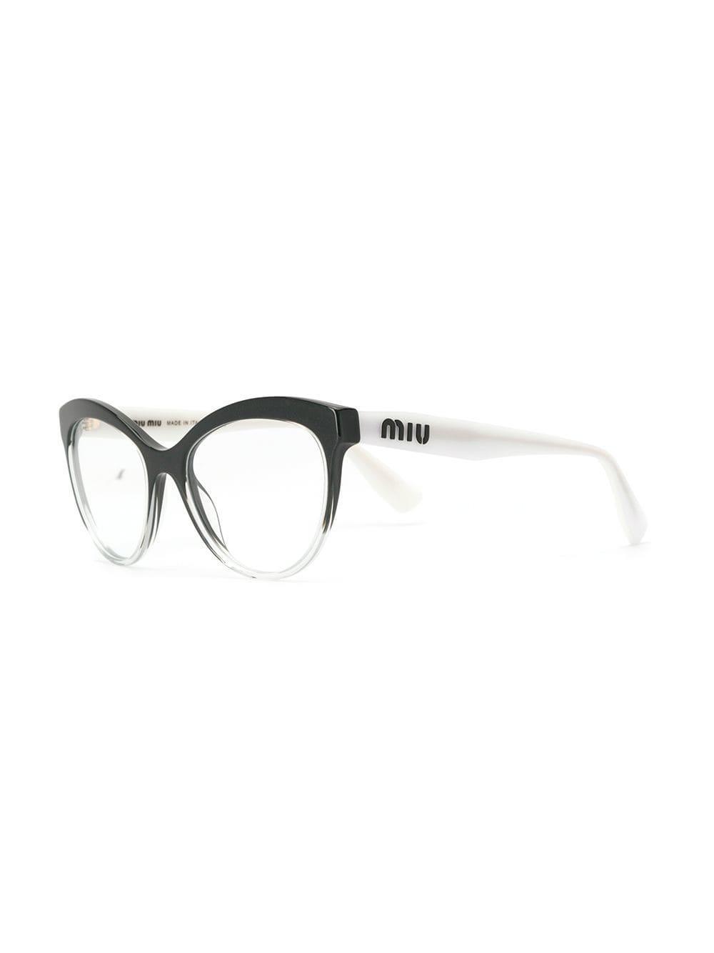 17e4d407ae90 Miu Miu Cat-eye Shaped Glasses in Black - Lyst