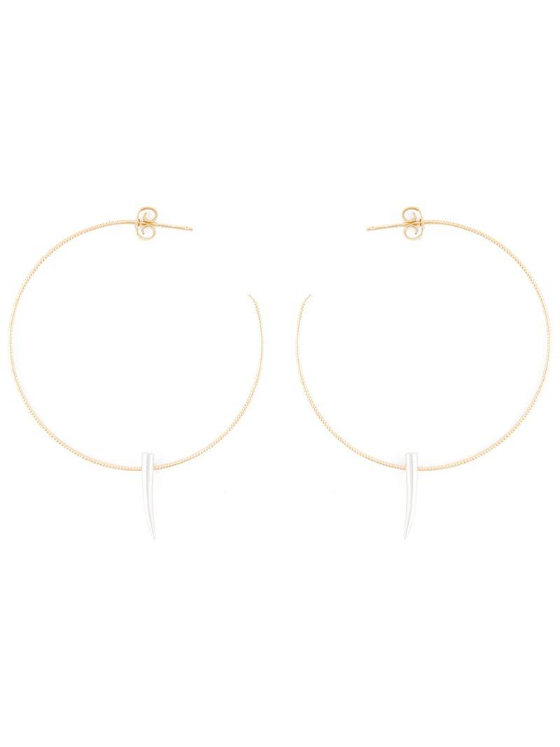 Wouters Hendrix Women S Metallic Spiked Hoop Earrings