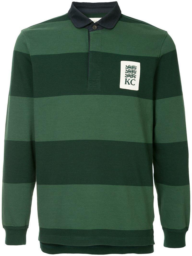 b64bbac772b Kent & Curwen Striped Rugby Polo Shirt in Green for Men - Lyst