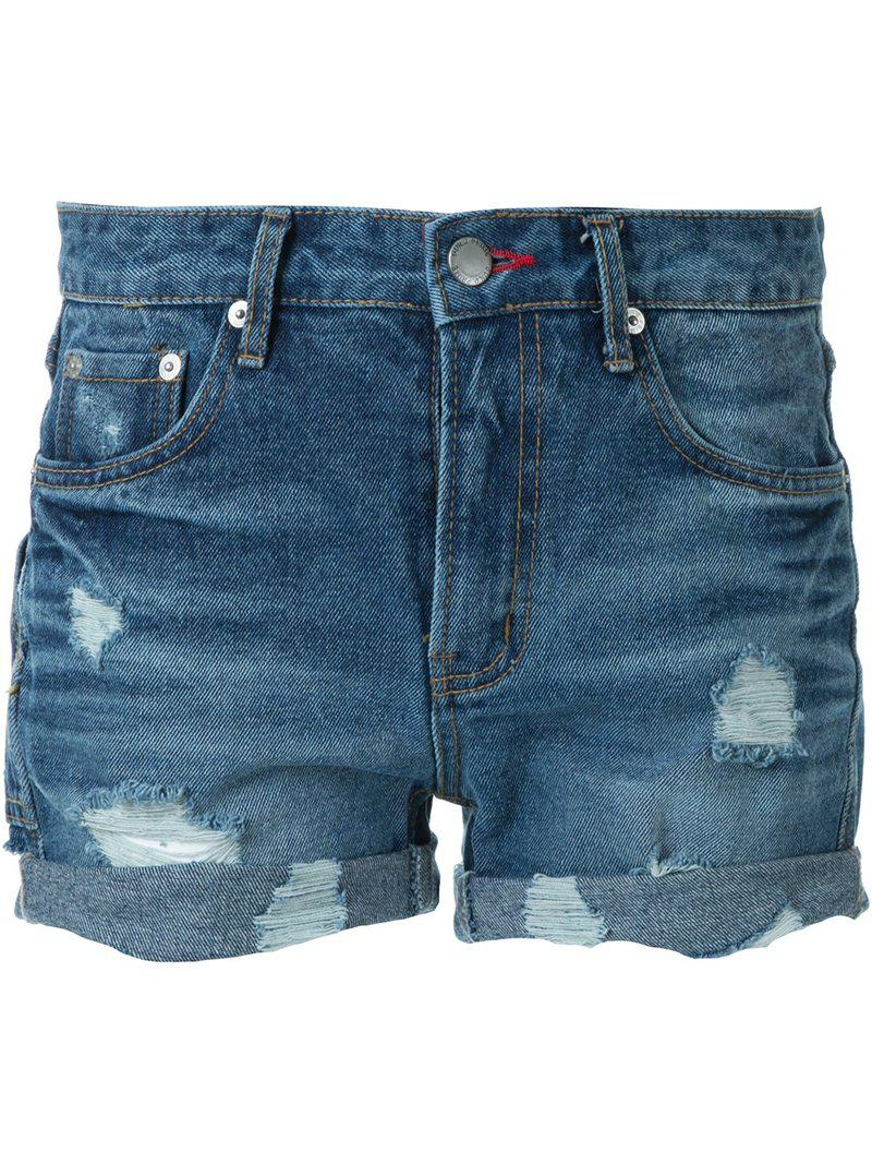 Guild Prime destroyed denim shorts Perfect Cheap Online Discount Excellent Outlet Popular Fashion Style 4ISrT