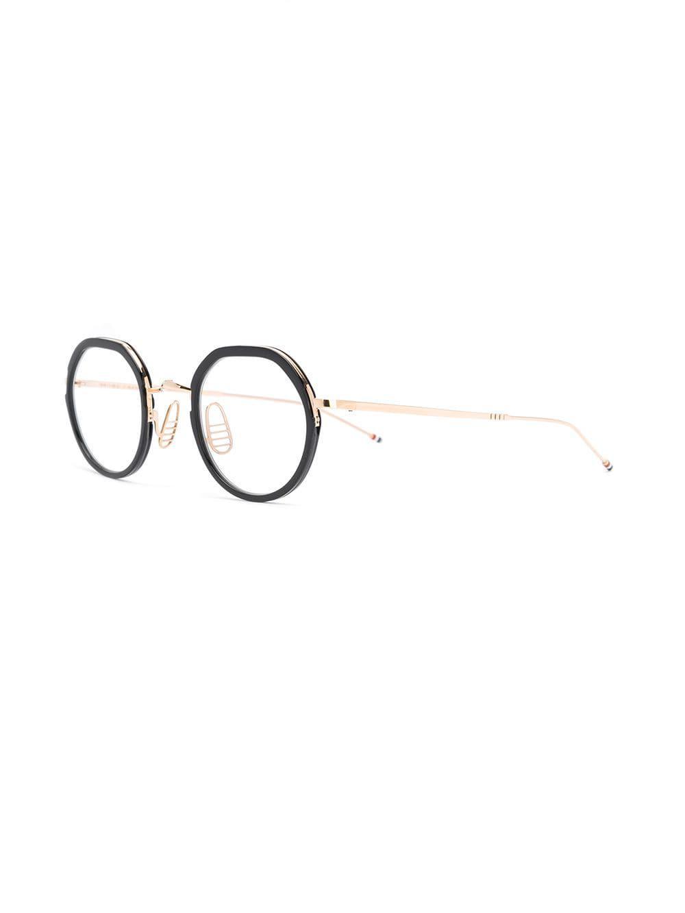 cd46e8801ab1 Thom Browne - Metallic Round Frame Glasses - Lyst. View fullscreen
