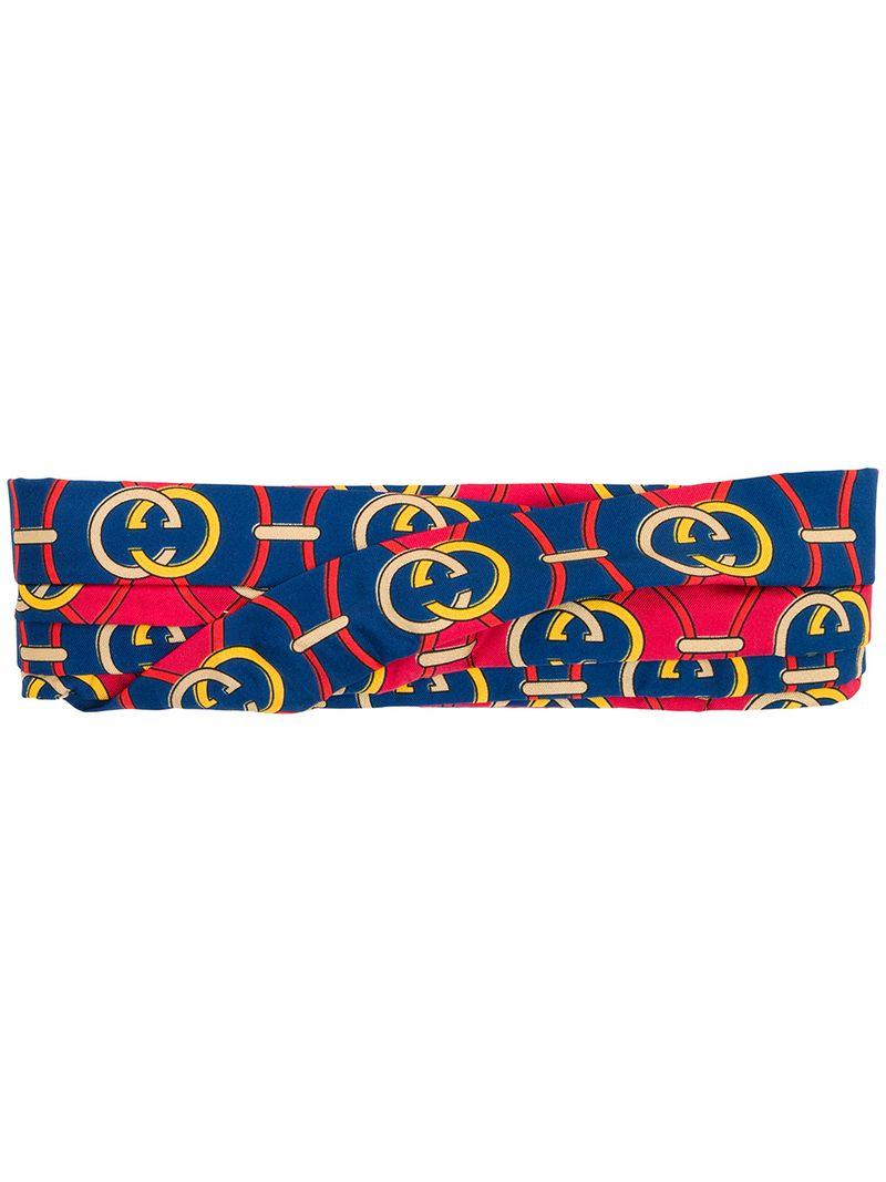 b25355be0d6 Lyst - Gucci Interlocking G Hair Band in Red