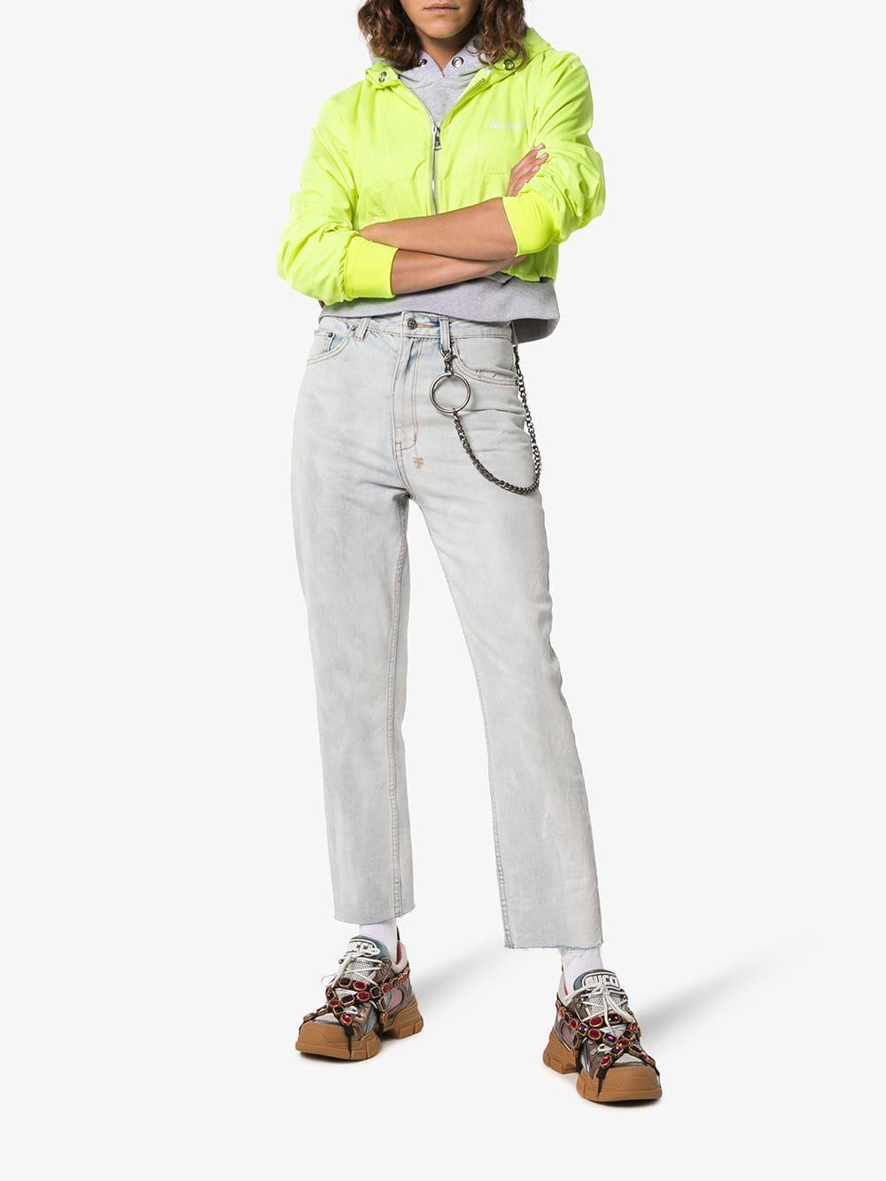 dbf5aa8ef650f Lyst - Gucci Multicoloured Metallic Flashtrek Removable Crystal Sneakers in  Metallic - Save 6%