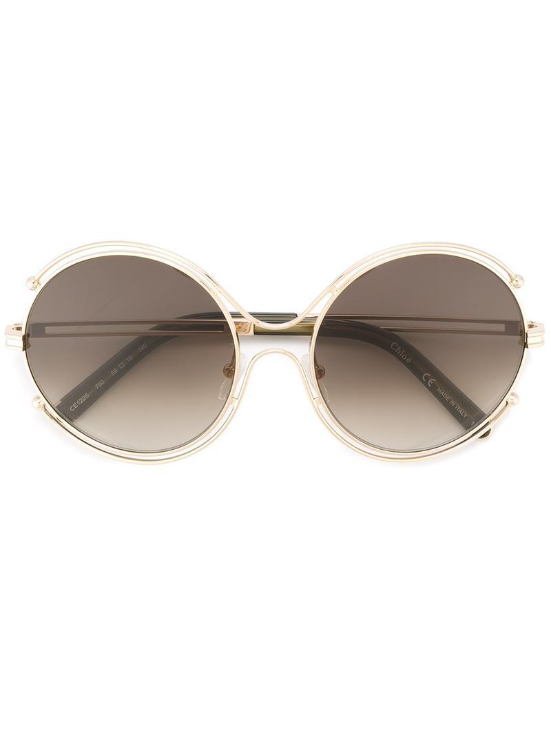 1e002907334 Chloé - Brown  isidora  Sunglasses - Lyst. View fullscreen