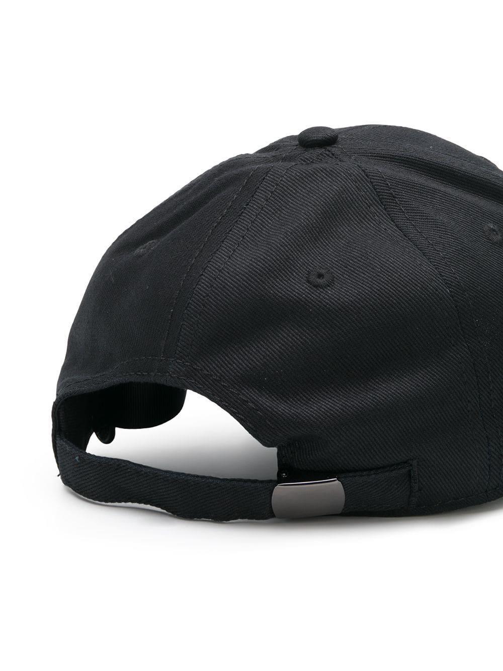 5f818ae27ee Versus - Black Contrast Logo Baseball Cap for Men - Lyst. View fullscreen