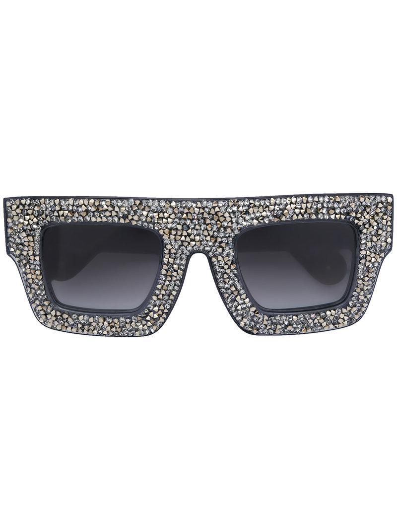 40b55ce5181 Anna Karin Karlsson Mr. 5am Poems Sunglasses in Black - Lyst