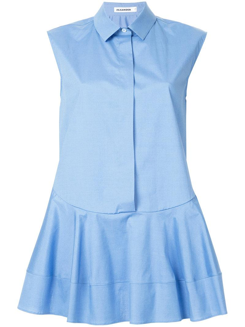 sleeveless flare shirt - Blue Jil Sander Top Quality Sale Online Clearance Footlocker Pictures 3L5ND