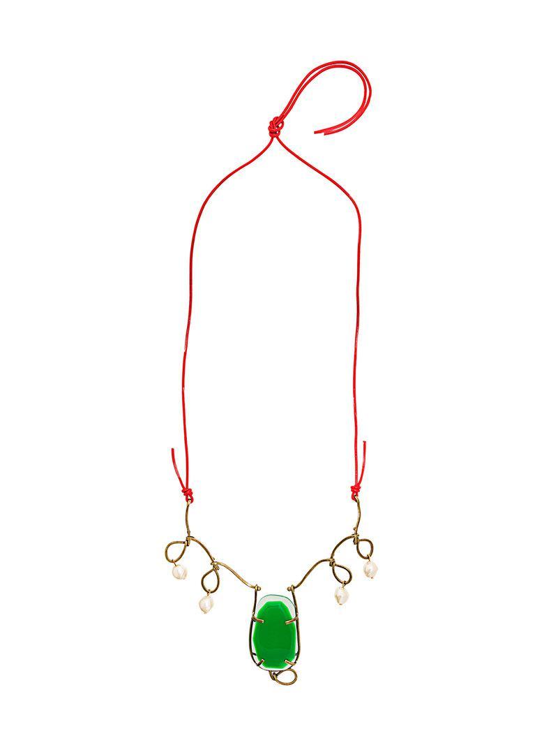 Marni twisted wire necklace - Metallic P4vrBo