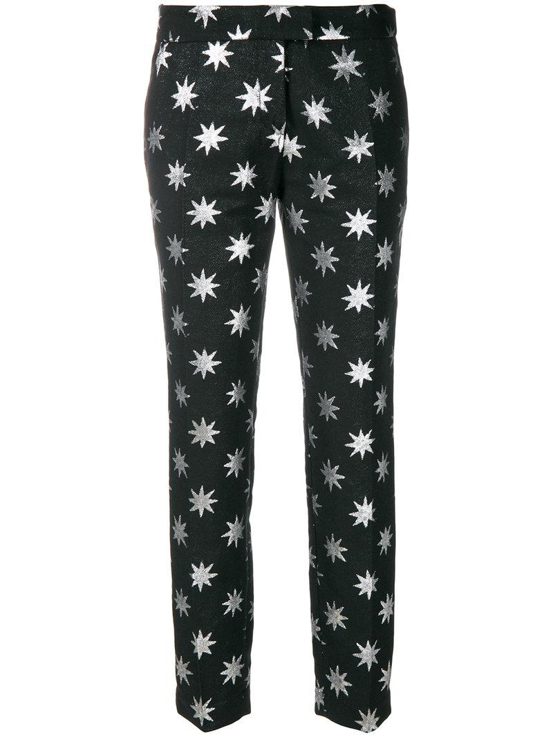 star printed tailored trousers - Black Christian Pellizzari 3piYE0