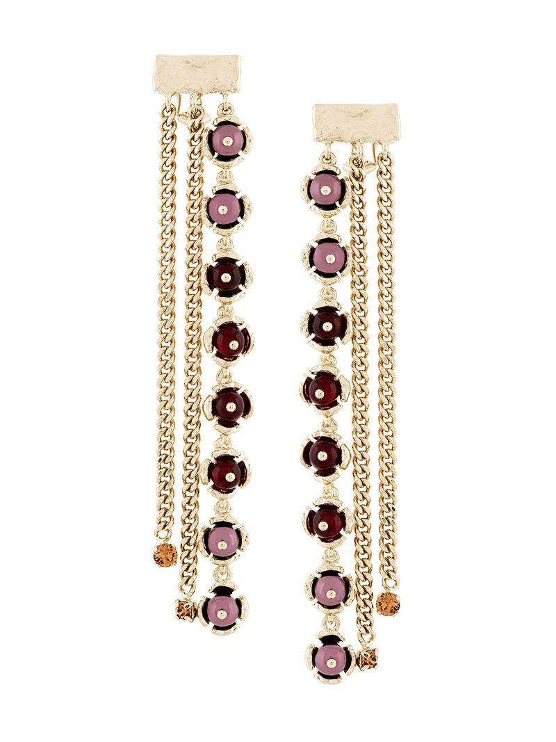 Womens Imitation-Pearl-Embellished Drop Earrings Koch ak3QL5O