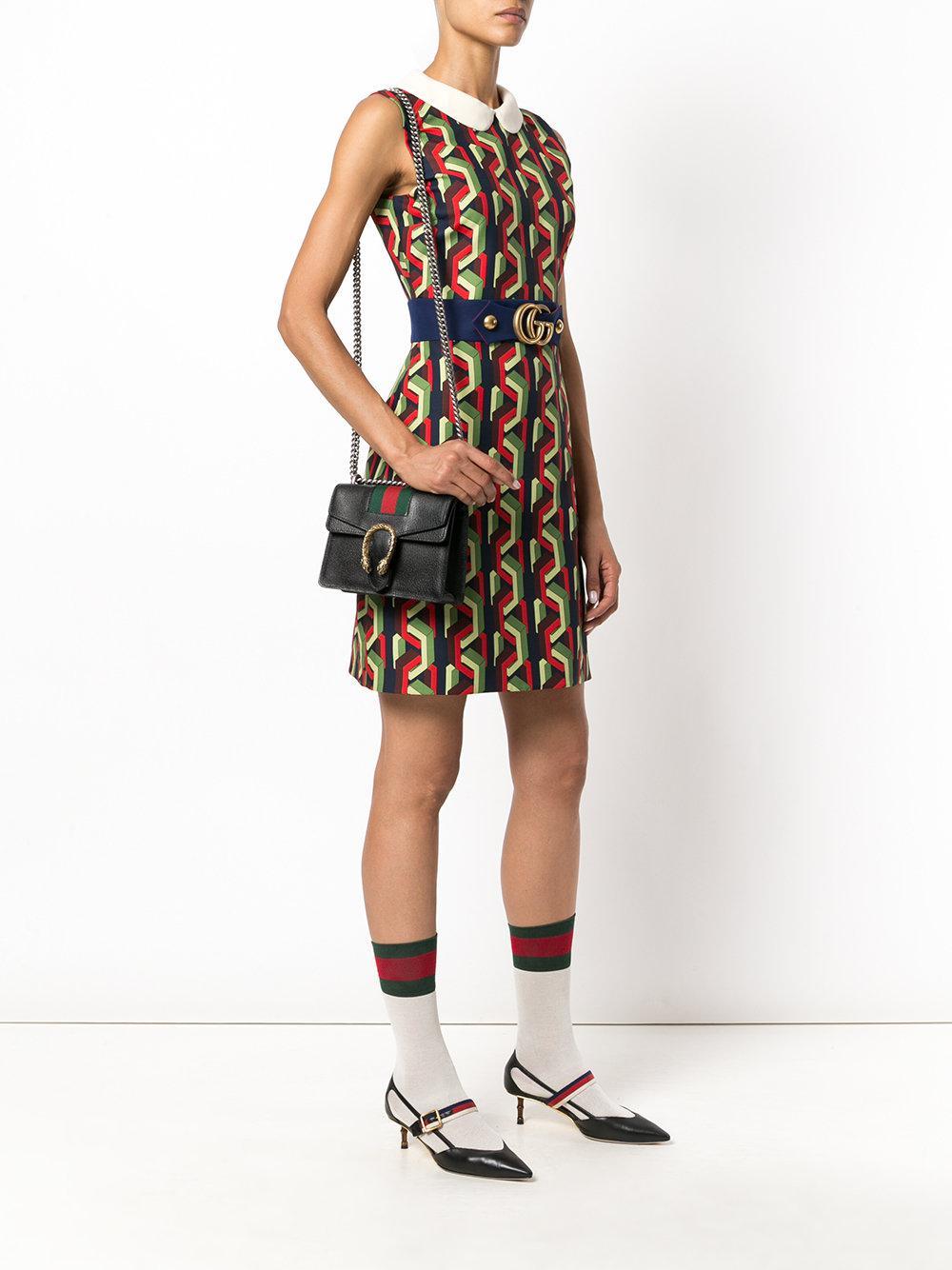 0fe24abd9f0f Gucci Gg Web Dionysus Shoulder Bag in Black - Lyst