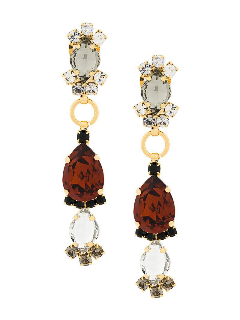 Marni large gemstone pendant earrings - Metallic n9p3nv6mnc