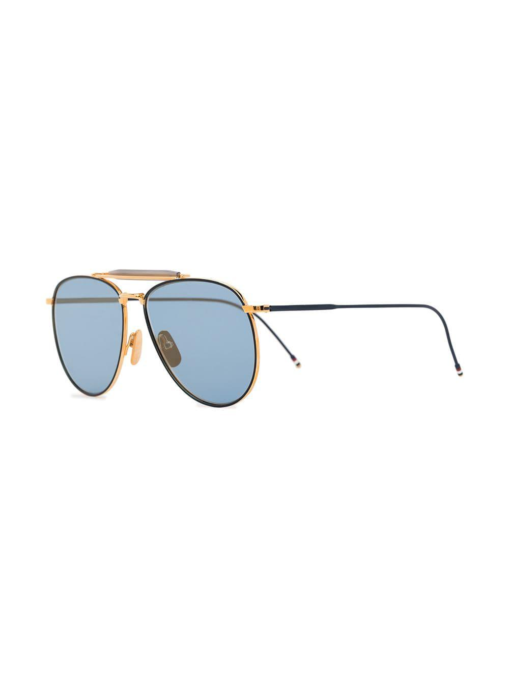 c7d623faae ... Gold Metallic 907 Aviator Sunglasses for Men - Lyst. View fullscreen