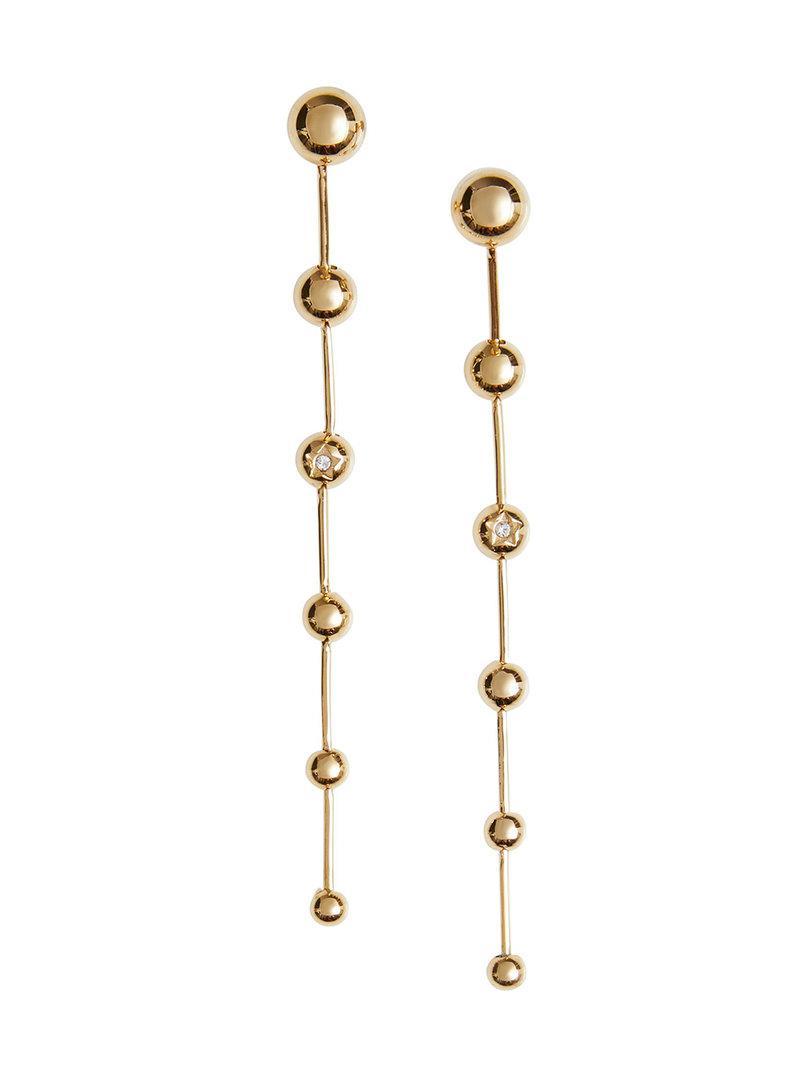 Burberry Crystal CharPalladium-plated Drop Earrings - Metallic 3cIzw