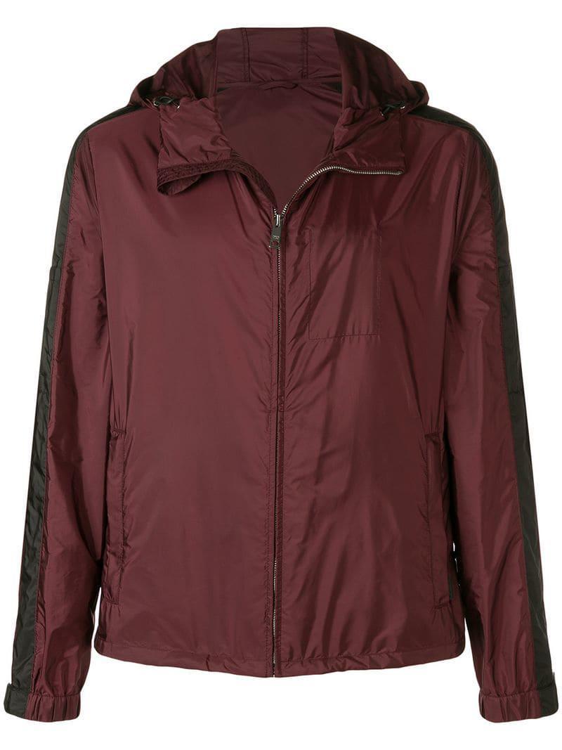 8a21a9bb Lyst - Prada Windbreaker Jacket in Purple for Men