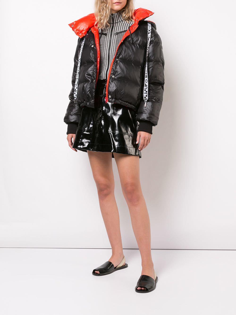 5dca4770866e Lyst - Proenza Schouler Pswl Hooded Puffer Jacket in Black