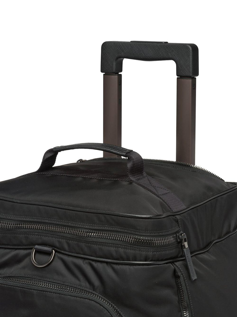 b934716662 Prada Nylon And Saffiano Leather Wheeled Carry-on in Black for Men ...