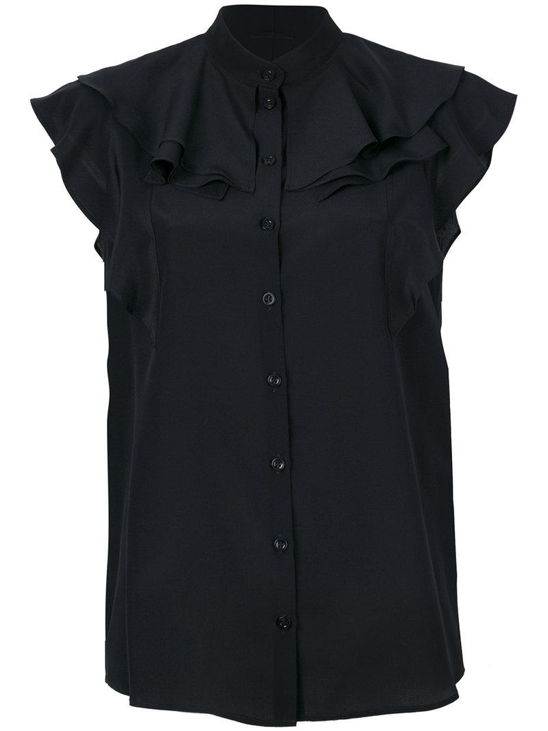 cb27c741 Lyst - Givenchy Frill-trim Blouse in Black