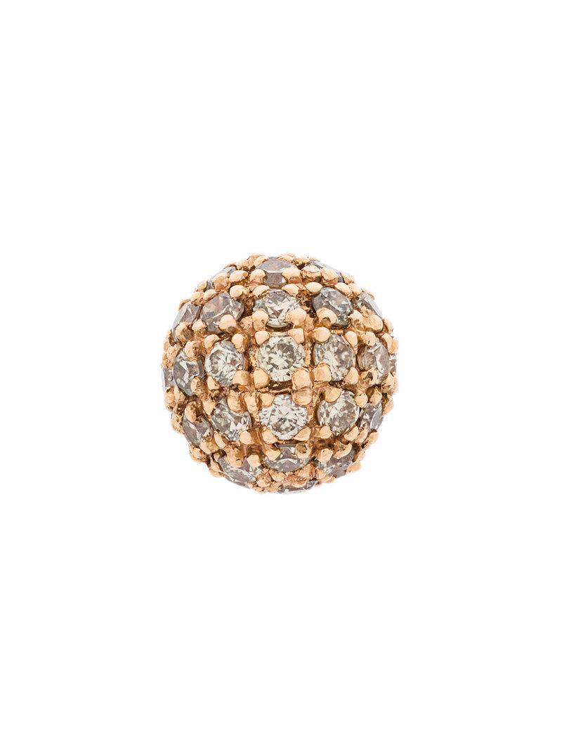 Elise Dray embellished ball stud earring - Metallic ReassdkW6