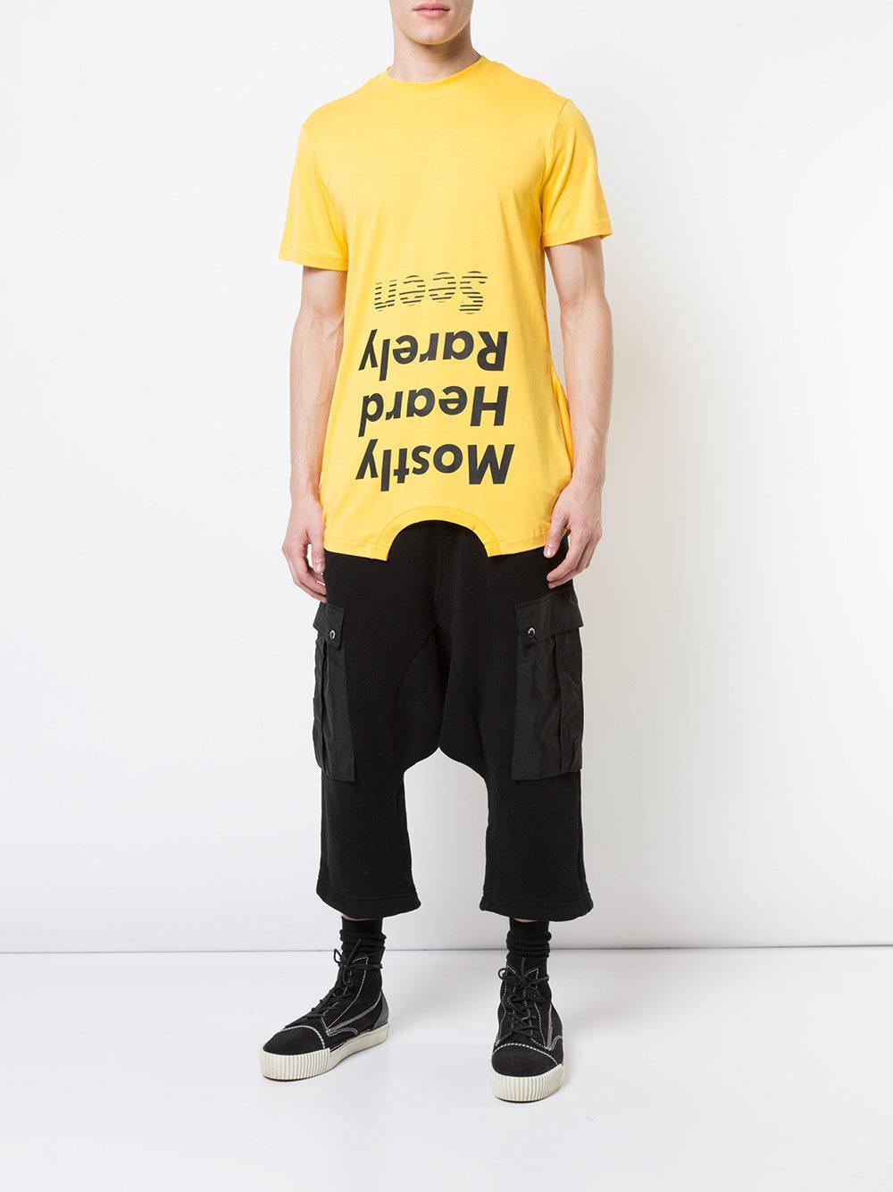 4da5cb8d mostly-heard-rarely-seen-Yellow-Orange-Should-Be-Higher-T-shirt.jpeg