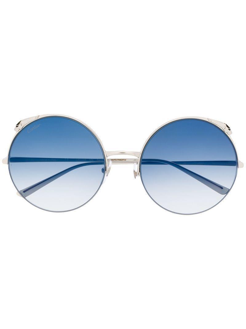 5a037bd1b4711 Lyst - Cartier Panthère Sunglasses in Metallic