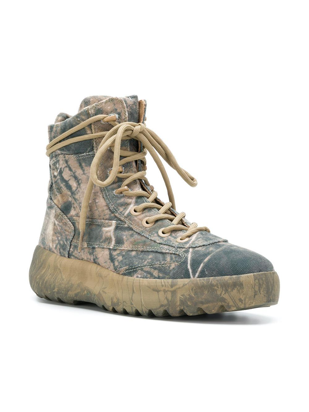 cfd69474b Lyst - Yeezy Season 5 Military Boots in Green for Men