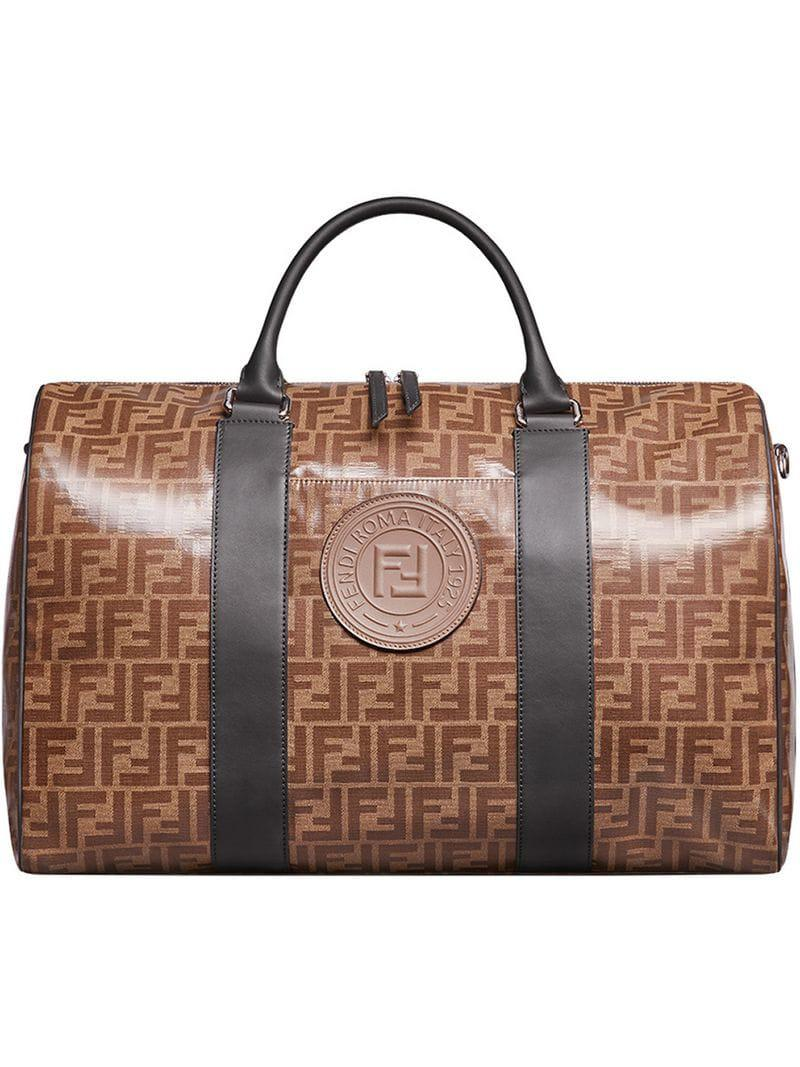 df0c91b4b305 Fendi Monogram Satchel in Brown for Men - Lyst