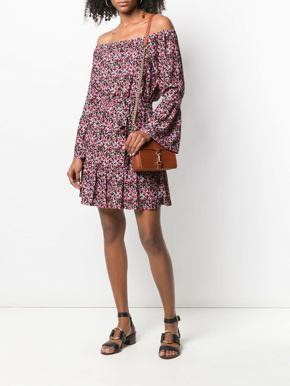 c13ccd149b20c MICHAEL Michael Kors - Black Floral Bell-cuff Dress - Lyst. View fullscreen