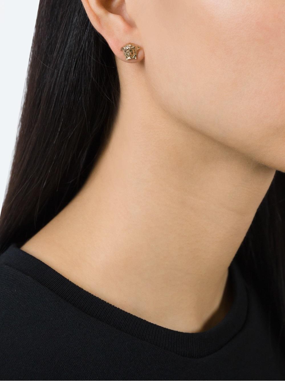 59170e201 Versace - Metallic Medusa Earrings - Lyst. View fullscreen