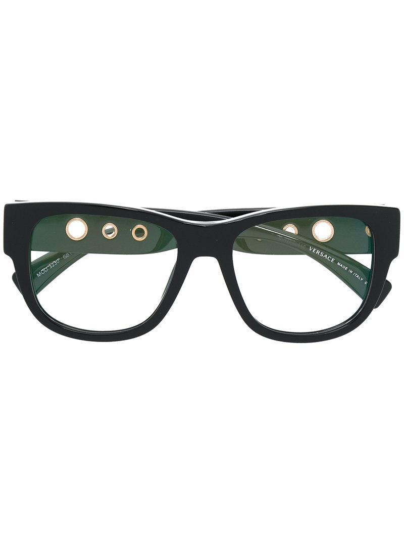 9fcd6d87df Lyst - Versace Medusa Square Shaped Glasses in Black