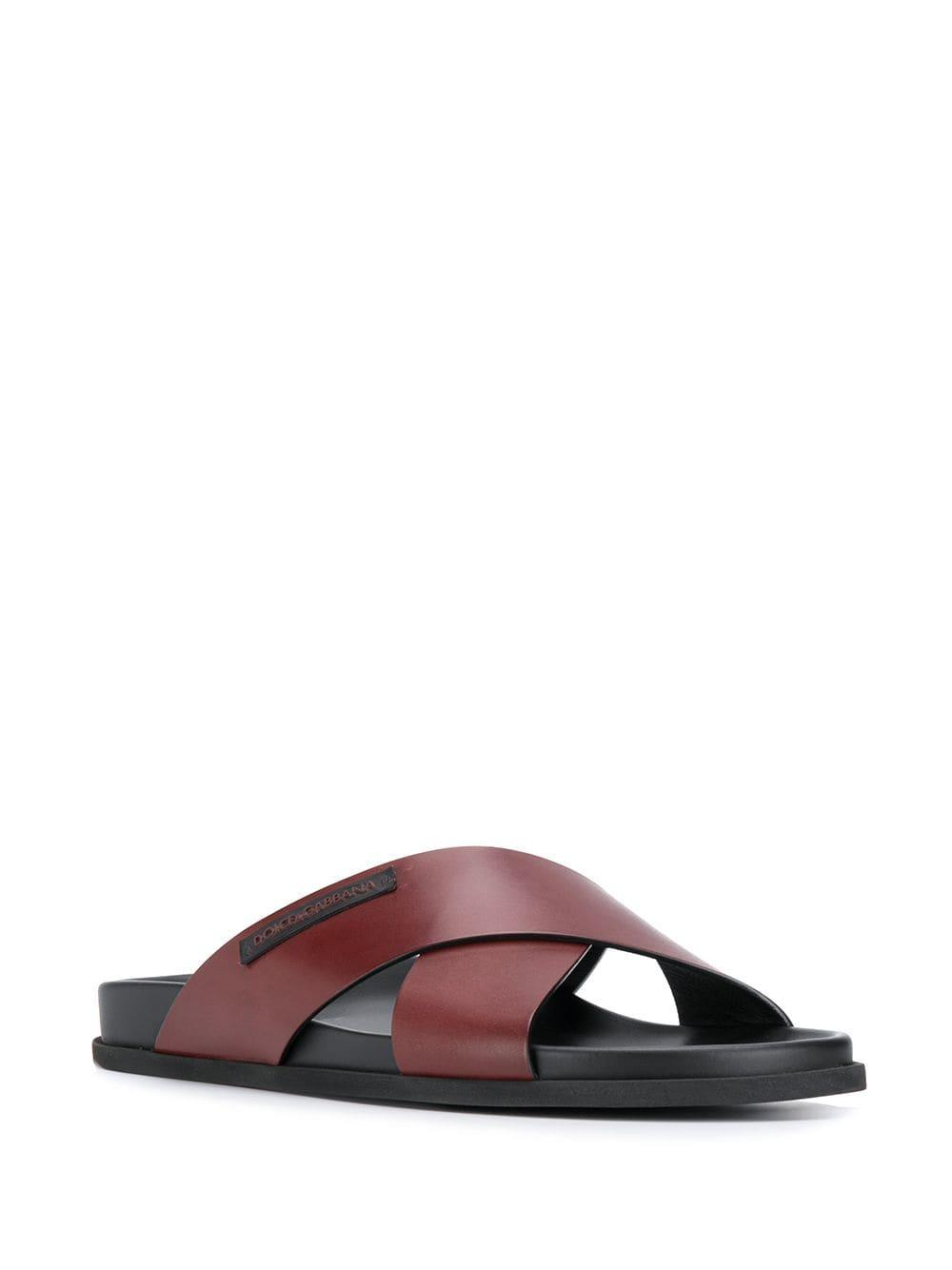 f517f0917 Lyst - Dolce   Gabbana Crossover Strap Sandals in Brown for Men