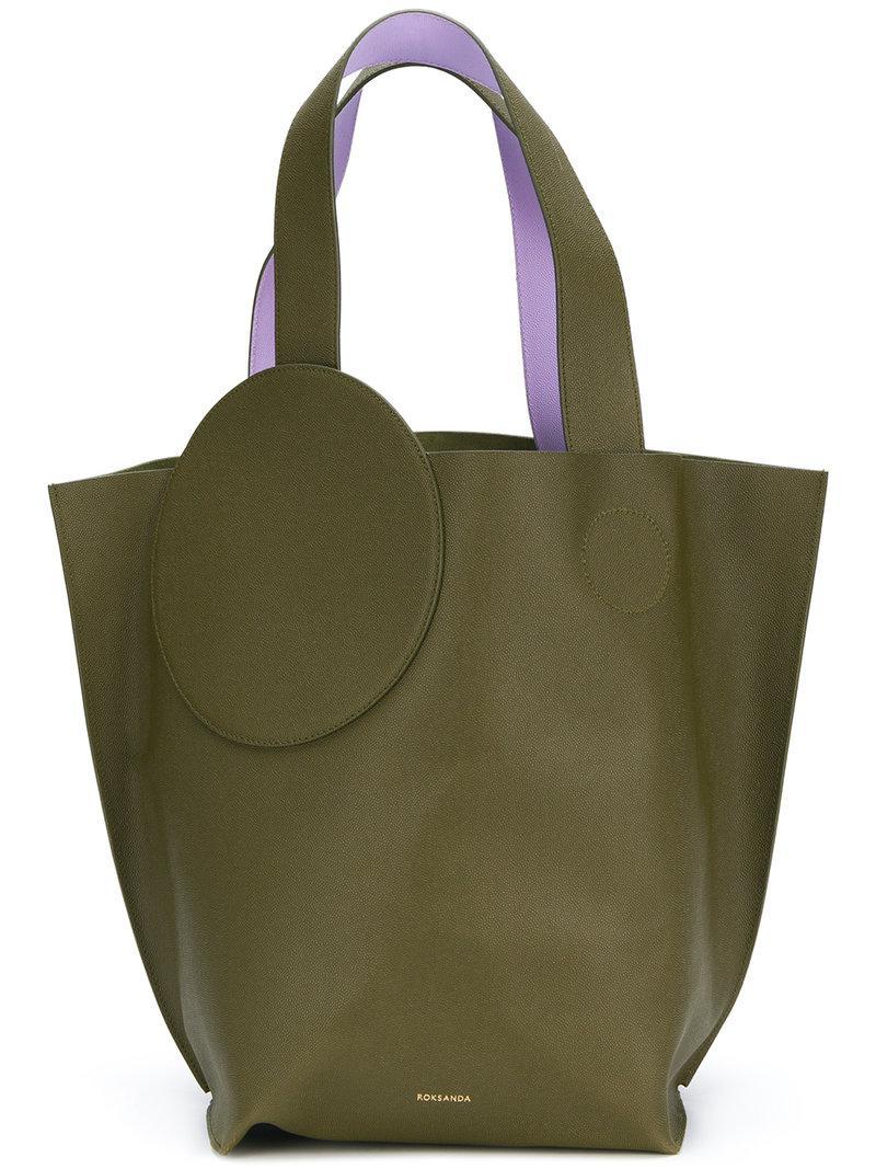 390e6a645d55 Lyst - ROKSANDA Circle Path Tote Bag in Green - Save 52.610441767068274%