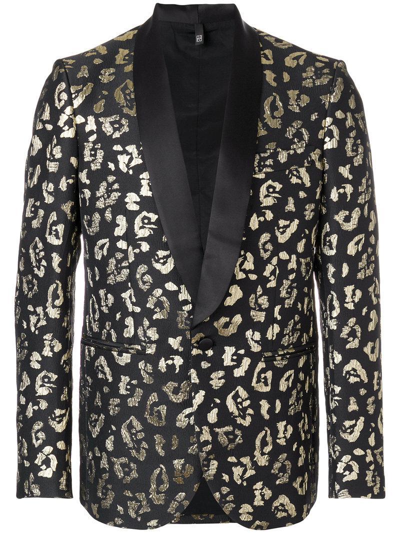 Lyst - Christian Pellizzari Animal Pattern Suit Blazer in ...
