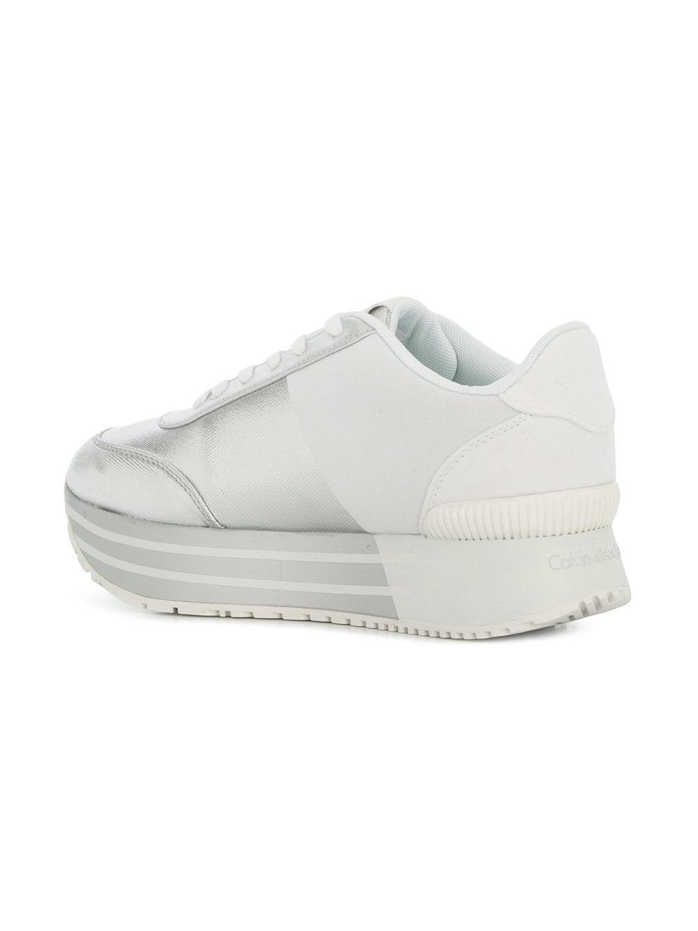 flatform colour-block sneakers - Metallic Calvin Klein Jeans tIRBqN3