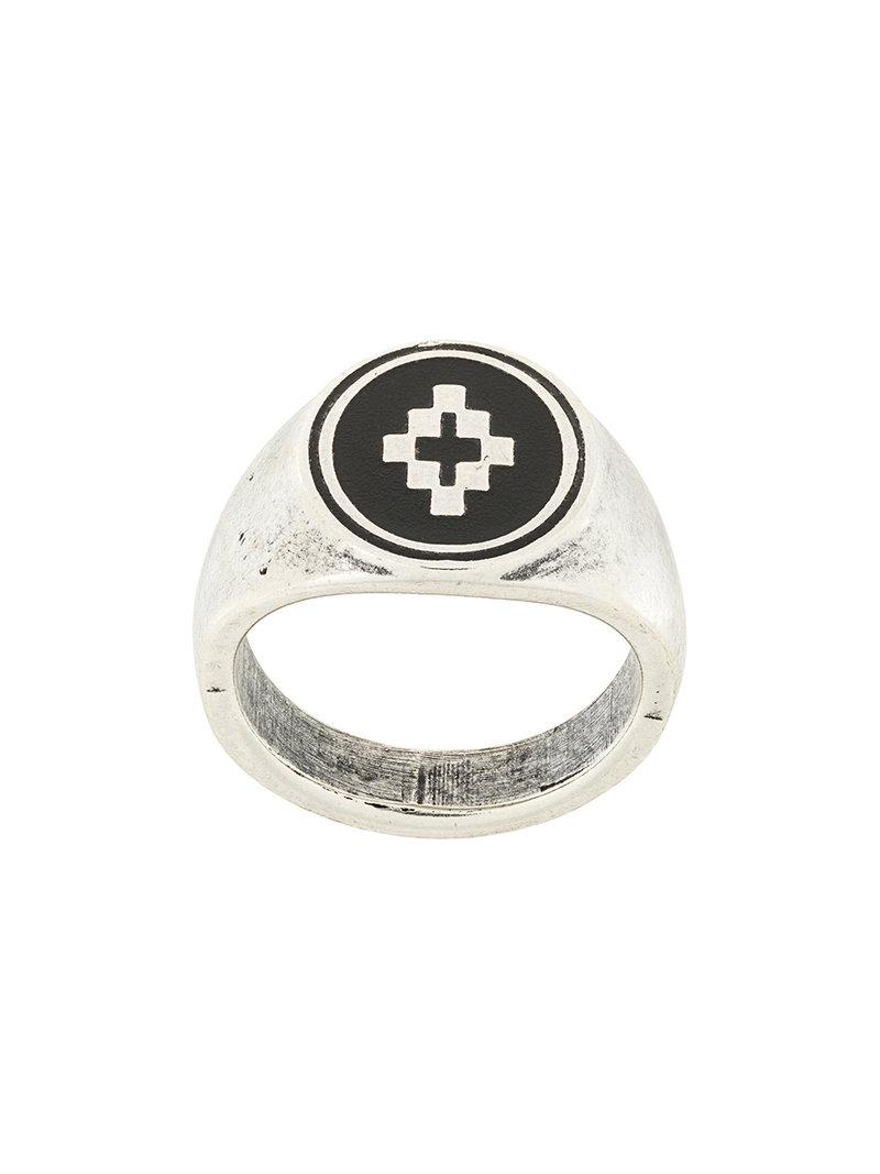 Cross ring - Metallic Marcelo Burlon 3yxyf