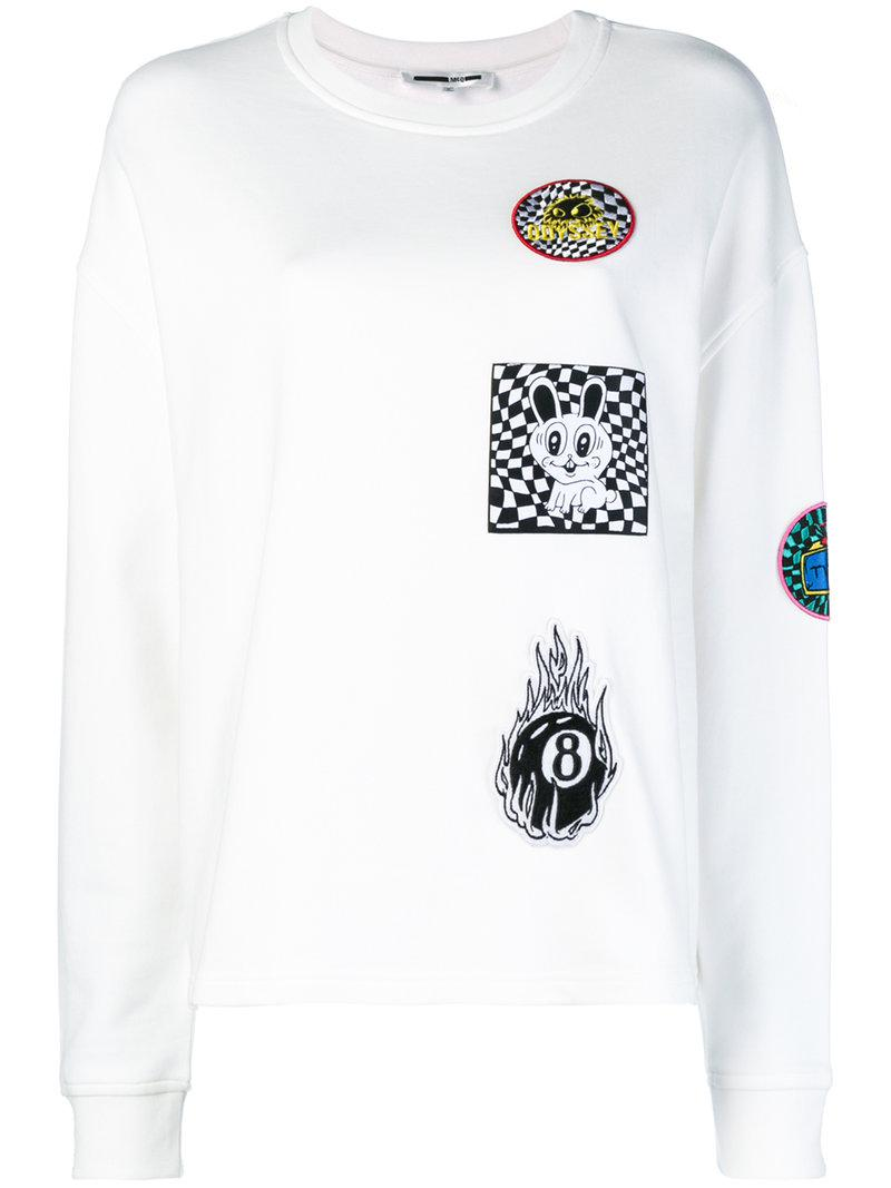 With Mastercard Cheap Price McQ Alexander McQueen Supersized patch-appliquéd sweatshirt Cheapest Cheap Ebay 100% Original Cheap Price QdOXbquaII