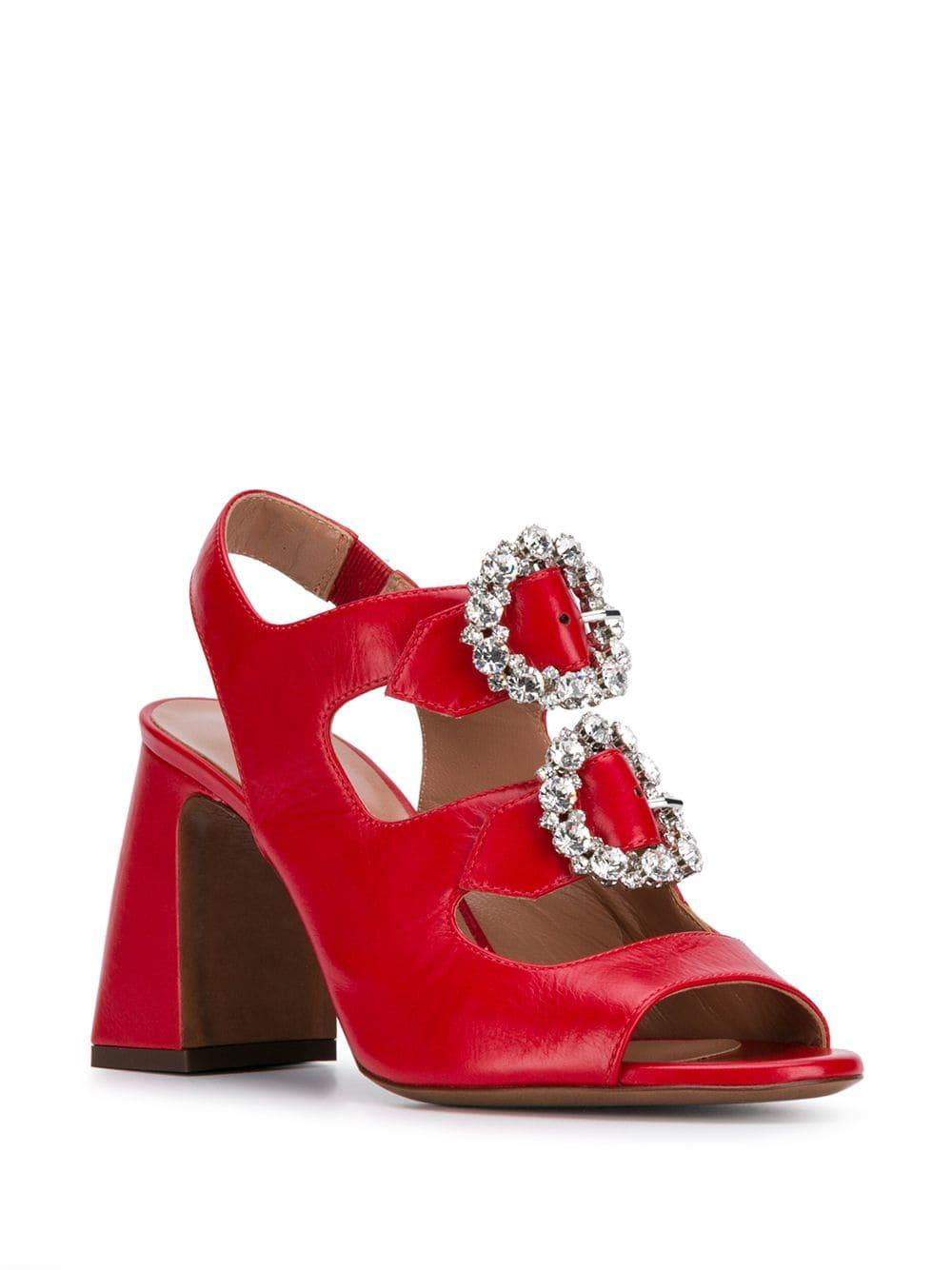 a47080742c4 Lyst - L Autre Chose Embellished Sandals in Red - Save 10%