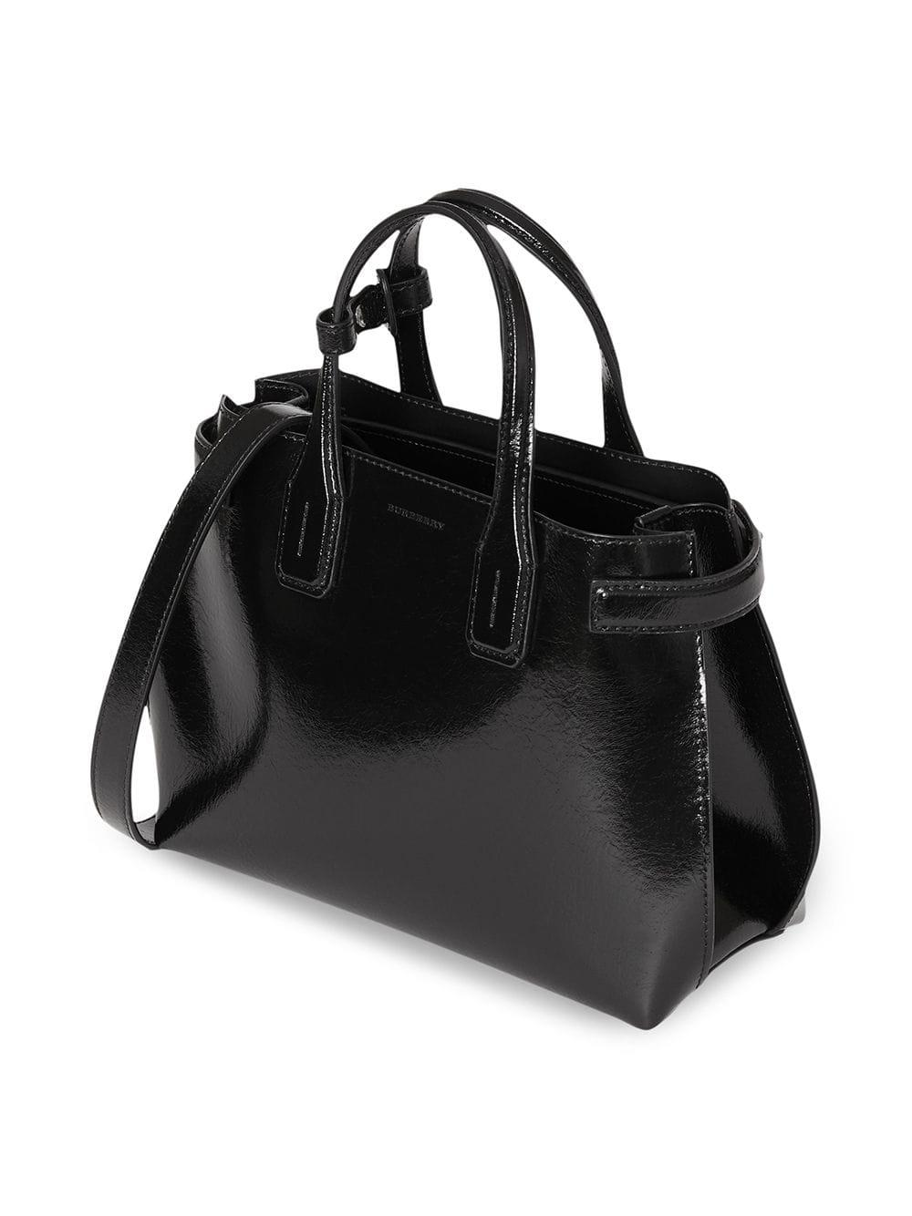 Burberry - Black The Small Soft Leather Banner - Lyst. View fullscreen 68aafe77924ed