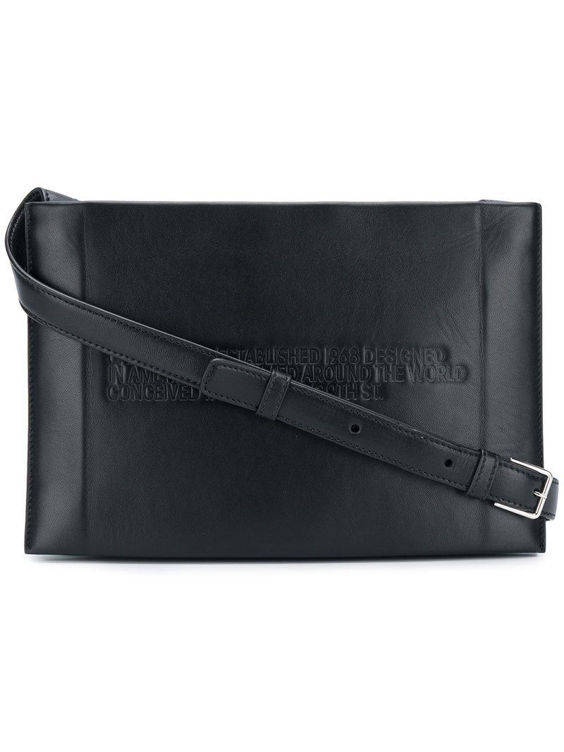 e64978b3d499 CALVIN KLEIN 205W39NYC Embossed Crossbody Bag in Black - Lyst