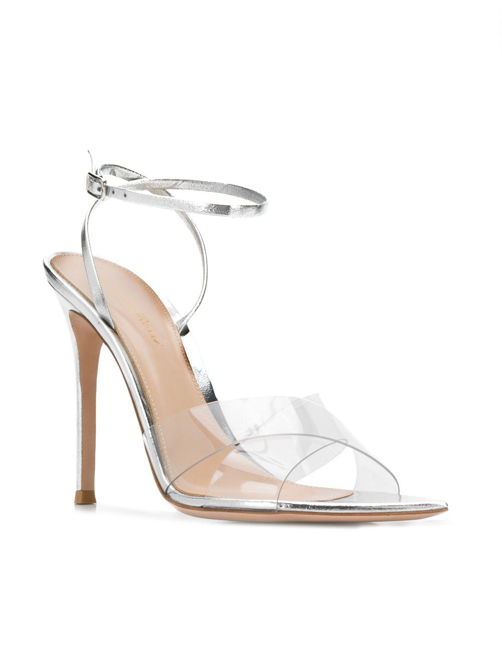 8608af396bf Lyst - Gianvito Rossi Ankle Strap Sandals in Metallic