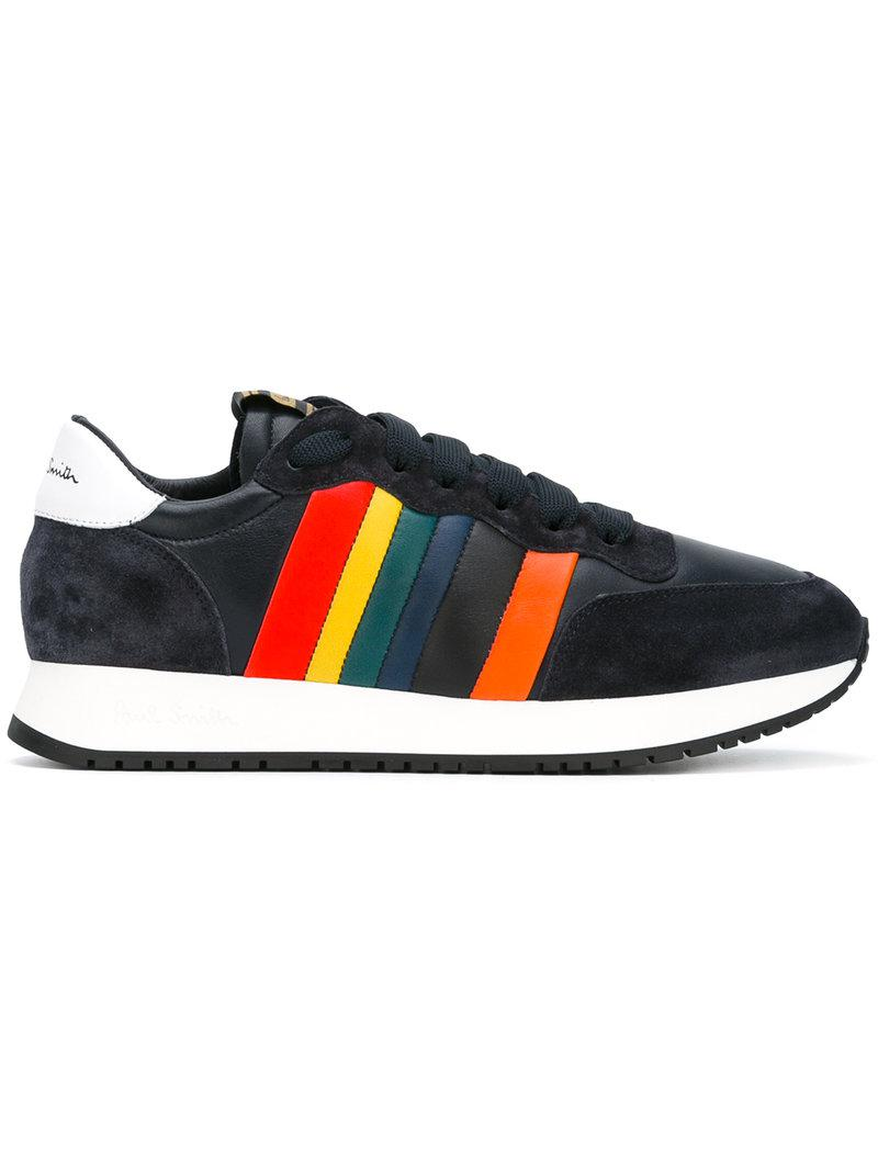 b9c4973c04e Lyst - Paul Smith Rainbow Trim Trainers in Blue for Men