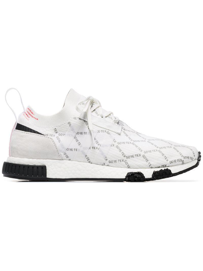 0c3a326b77f Lyst - adidas White Gtx Racer Nmd Trainers in White for Men