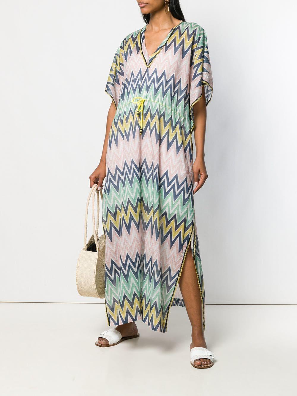 dcfeeafd9cf M Missoni Chevron Printed Maxi Dress in Green - Lyst
