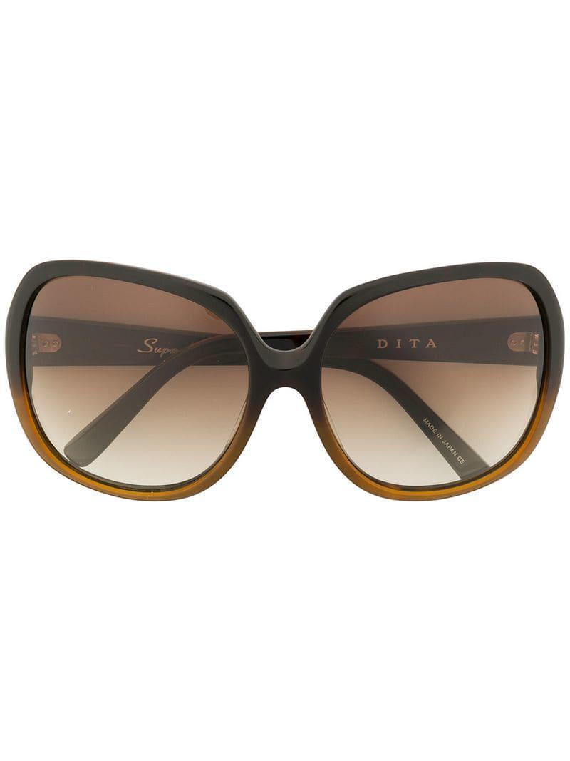 044c2075871b Dita Eyewear Square Tinted Sunglasses in Brown - Lyst
