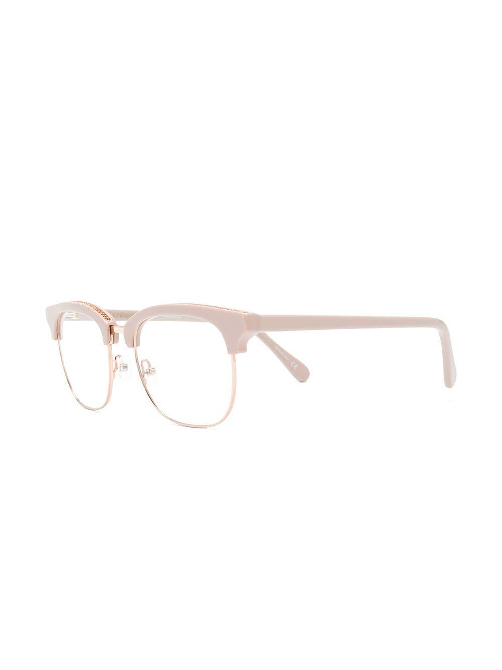f51c061ebd Stella McCartney - Pink Squared Frame Glasses - Lyst. View fullscreen
