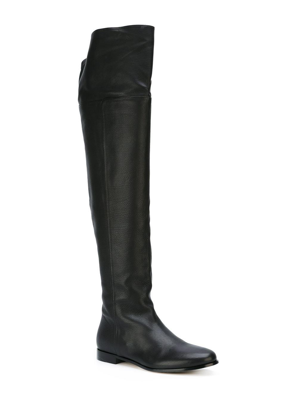 62437938aed Jimmy Choo Mitty Textured-leather Over-the-knee Boots in Black - Save 68% -  Lyst