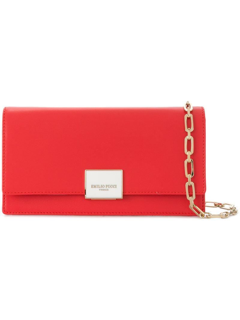 rectangular logo shoulder bag - Red Emilio Pucci sVPjUMV