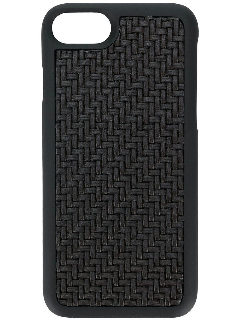 c7edb79e80f9 Ermenegildo Zegna Woven Iphone 7 Case in Black for Men - Lyst