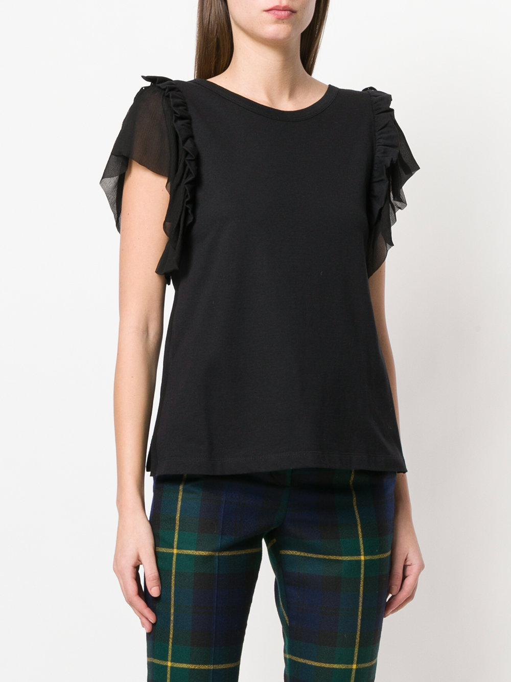 Free Shipping Clearance Clearance Amazon ruffle sleeve top - Black N°21 Free Shipping Sale Online Low Price Cheap Online NtagsLrW13