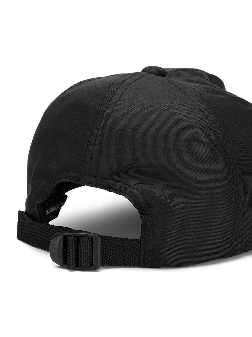 662e5b2eea1 Emporio Armani - Black Maxi Logo Hat for Men - Lyst. View fullscreen